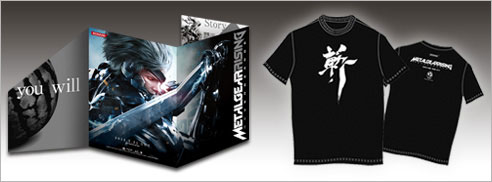 Metal-Gear-Rising-T-Shirt-and-Flyer