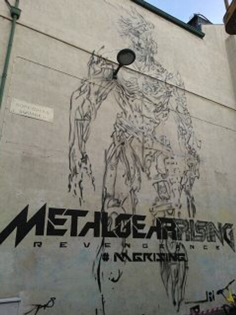 Metal-Gear-Rising-Raiden-Mural