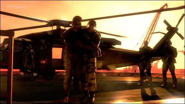 MGSV-E3-Trailer-Snake-and-Kaz-Helicopter